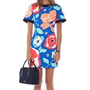 Kate Spade Sheath Dress Artsy Floral Short Sleeve